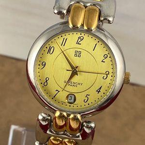 Vintage Givenchy Paris Watch 2 Tone Watch Bracelet